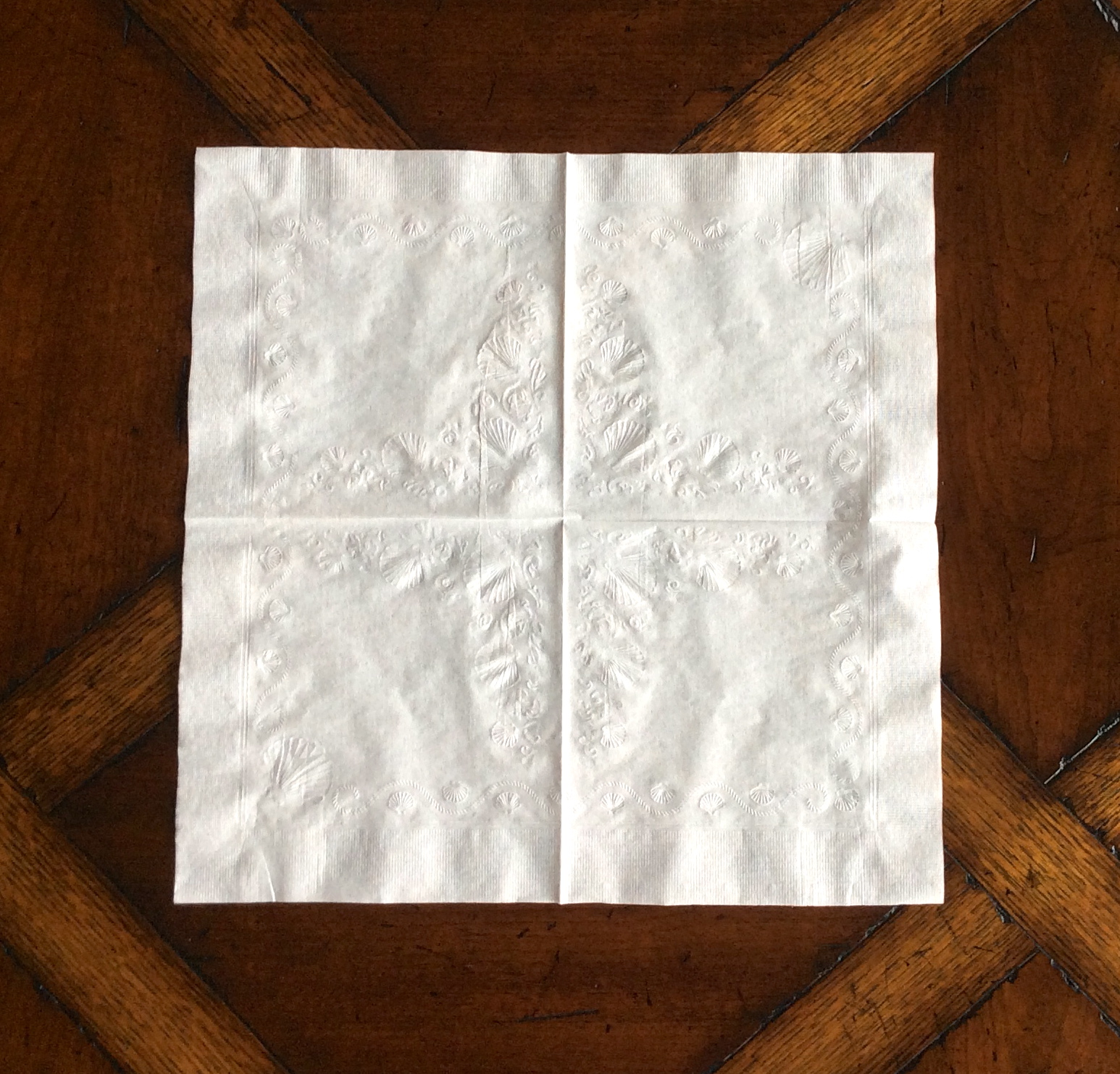 How to starch a napkin